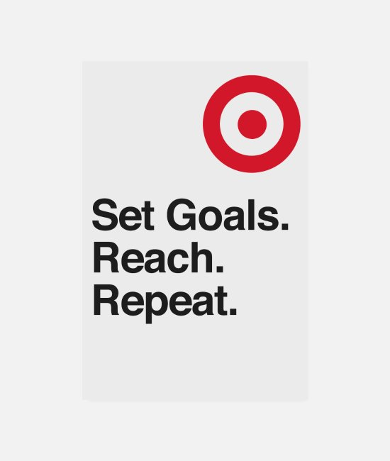 Office Posters - Set Goals. Reach. Repeat. - motivation - Posters white