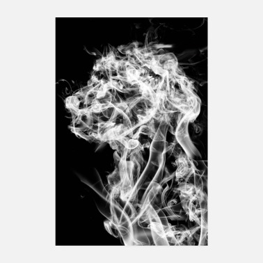 Grafiikka Dog in the Smoke - Juliste 20x30 cm