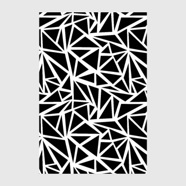 SCANDI BROKEN BLACK BLACK WHITE - Poster 8 x 12