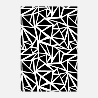 Black SCANDI BROKEN BLACK BLACK WHITE - Poster 8 x 12