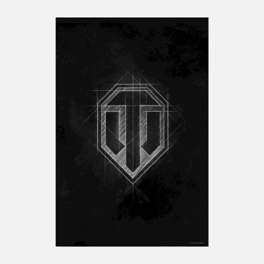 World of Tanks WoT -logo - Juliste 20x30 cm
