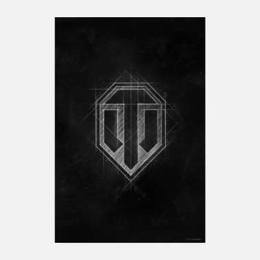 Online World of Tanks WoT-logo - Poster 20x30 cm