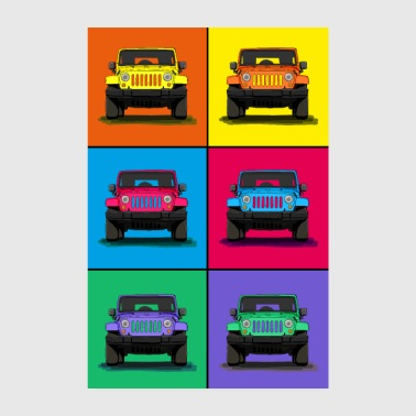 The off-road vehicle icon as a cool graphic - Poster 8 x 12