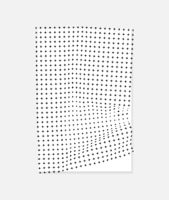 Interesting Posters - Optical illusion of a creasing effect - Posters white