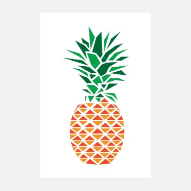 Graphique Polygone d'ananas - Poster 20 x 30 cm