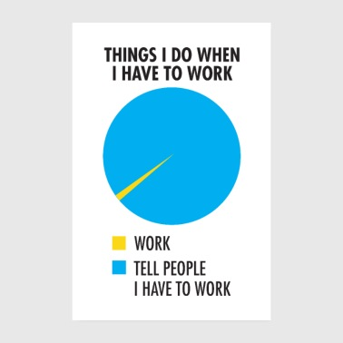Meeting Things I Do When I Have To Work - Poster 20x30 cm