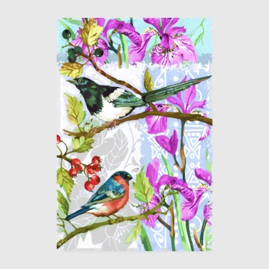 Birds in the garden - Poster 8 x 12