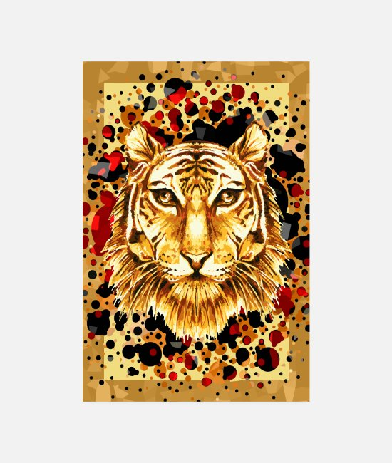 Animal Posters - Brave as a tiger - Posters white
