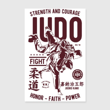 JUDO JUDOKA SPORTS - Martial Arts Gifts Shirts - Poster 8 x 12