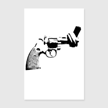pistol knot peace poster Poster Revolver anti - Poster 8 x 12