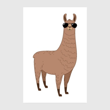 Alpaca with sunglasses - Poster 8 x 12