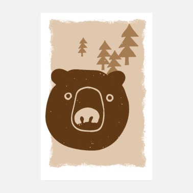 Drawing Bear drawing - Poster 8 x 12