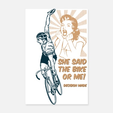 Cycling I'm off ... cycling - Poster 8 x 12
