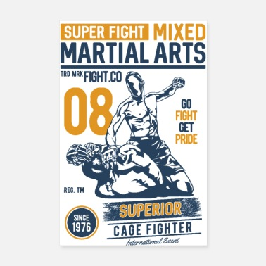 Wingtsun SUPER FIGHT SPORT - Martial Arts Gifts Shirts - Poster