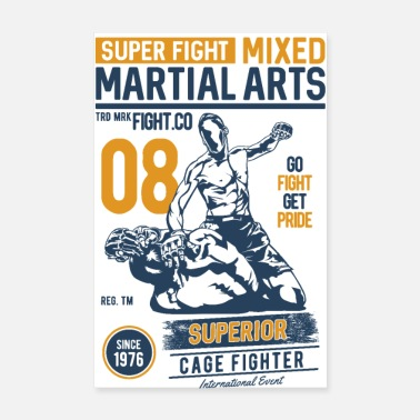 Krav Maga SUPER FIGHT SPORT - Martial Arts Gifts Shirts - Poster 8 x 12