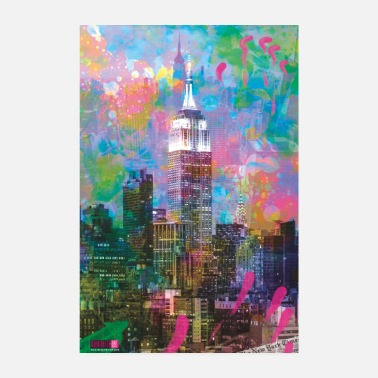 New York 04 Good Morning NEW YORK! Poster Margarita Art - Poster 20x30 cm