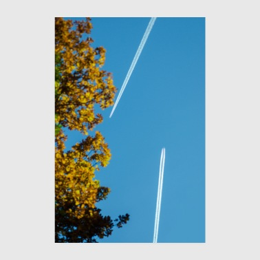 Strip Aircraft with contrails poster - Poster 8 x 12