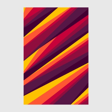 ART LINES IN FIRE PAINTS - Poster 8 x 12