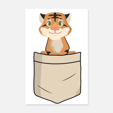 Children Tiger in shirt pocket (animal children) - Poster 8 x 12