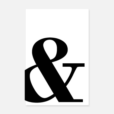 Scandinavie & Personnages Ampersand - Poster 20 x 30 cm