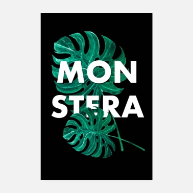 Hipster Monstera Deliciosa Poster - Poster