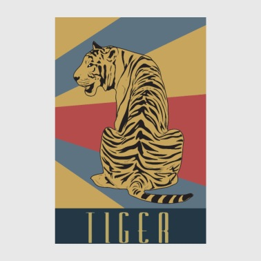 Tiger Retro Balitic Javat Old School - Poster 8 x 12