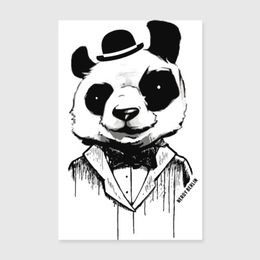 Panda - like a sir - street art - Poster 20x30 cm
