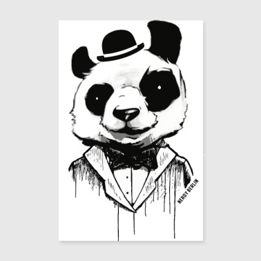 Panda - like a sir - street art - Poster 8 x 12