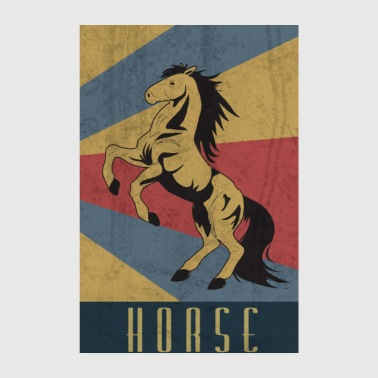 Rytter Horse Rider Equestrian Equestrian Gift - Poster 20x30 cm