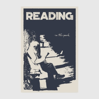 Reading in the Park - Poster - Poster 8 x 12