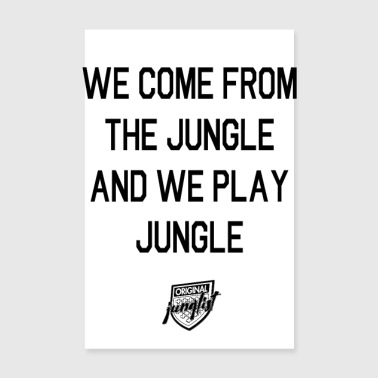 Hockey We Come From The Jungle [white] - Poster 8 x 12