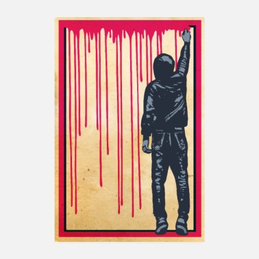 Coole STREET ART - SPRAY BOY Poster - Poster 20x30 cm