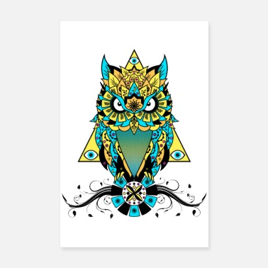 Colour The Owl - Poster 8 x 12