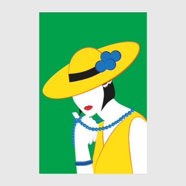 Elegant Madame in yellow - Poster 8 x 12