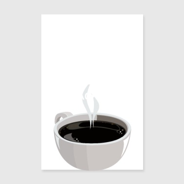 I love BBC white (Big Black Coffee) - Poster 20x30 cm