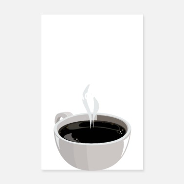 Kaffee I love BBC white (Big Black Coffee) - Poster