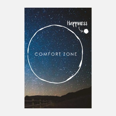 Alles Wird Gut Leave Comfort Zone - join Happiness - Poster