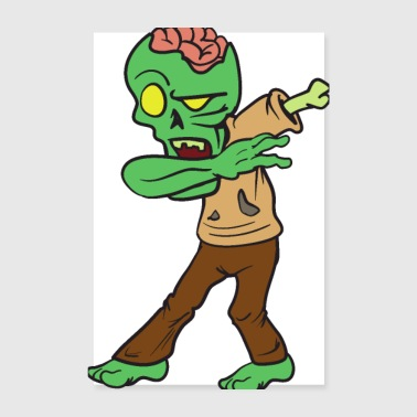 Dabbing Dab Dancing Halloween Monster Zombie - Poster 20x30 cm