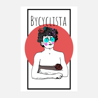 Vintage Bycyclista Poster - Poster 20x30 cm
