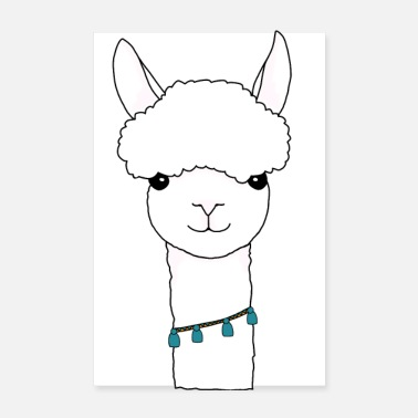 Andes Alpaca animal Andes - Poster