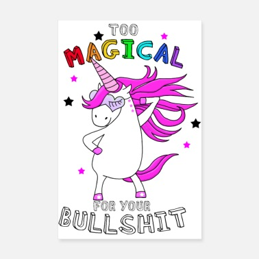 Girlie Magical Unicorn Unicorn - Poster 8 x 12