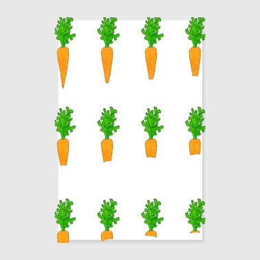 The yummy carrot - Poster 20x30 cm