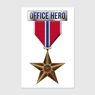 Medal Bronze Star Office Hero Funny Military Ar - Poster 8 x 12