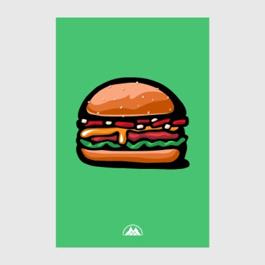 Cheese burger - Poster 8 x 12