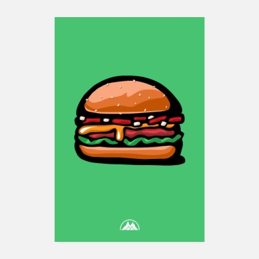 Hunger Cheese burger - Poster 8 x 12