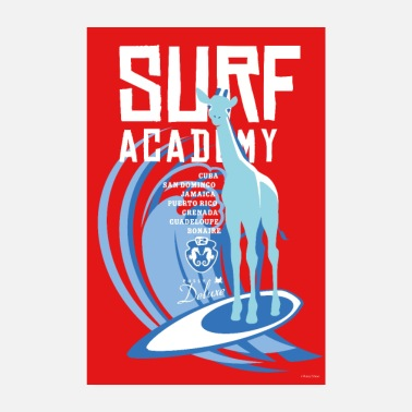 Surf Pussy Deluxe Giraffe Surf Academy - Poster
