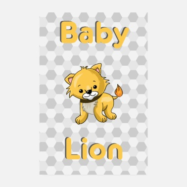 Baby Baby Lion Lion Baby Animal - Poster