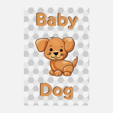 Baby Baby Dog Dog Baby Animal - Poster 20x30 cm