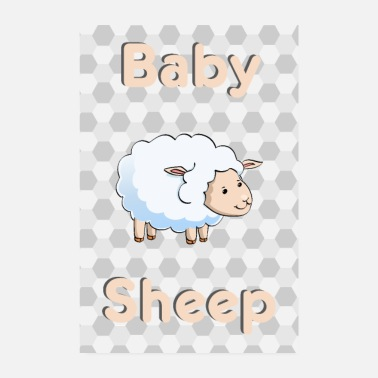 Animale Baby Sheep sheep animal animal - Poster 20x30 cm