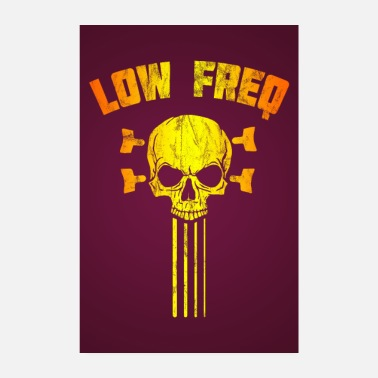 Bone Low Frequency Skull Bassist Bass Guitar Poster - Poster